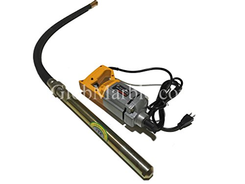 Portable Electric Concrete Vibrating Motor with Shaft. 110 V. Electric Hand Held Concrete Vibrator Lenght Shaft