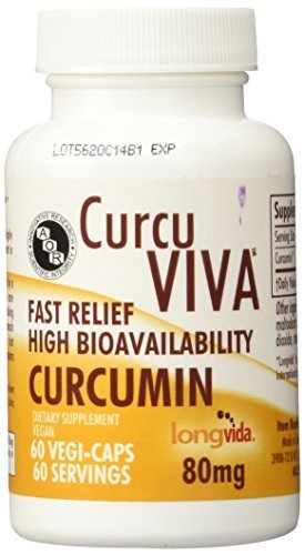Advanced Orthomolecular Research AOR, CurcuViva, Curcumin, 80 mg, 60 Veggie Caps by Advanced Orthomolecular Research AOR
