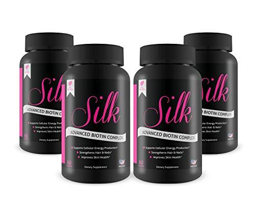 (Silk Advanced Biotin Complex- Promotes Stronger, Longer, Hair-Healthier Skin- Ultimate Nail Strength 240ct)