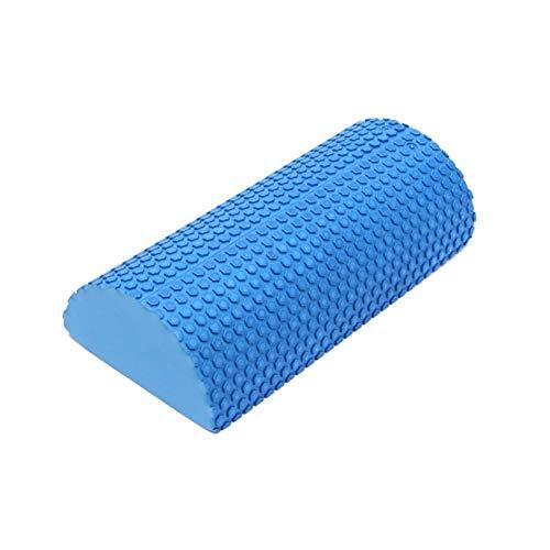 VT BigHome Blue EVA Foam Half Round Yoga Roller Pilate Fitness Foam Gym Fitness Exercise Yoga Blocks Massage Floating Point 30x15x7 cm