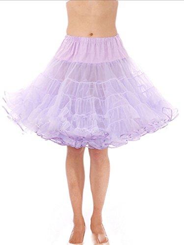 Rockabilly Lavande Annes Petticoat 50 Multicouche Dressvip Vintage 50cm Longueur Jupon wqzFZI