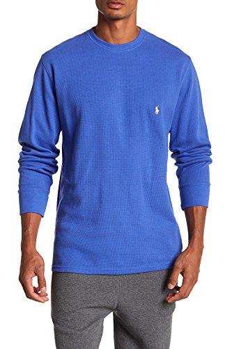 Polo Ralph Lauren Men's Waffle Knit Crew Neck Shirt (Royal Blue, Medium) ()