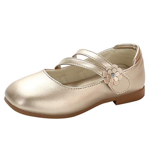 Respctful✿ Kids Toddlers Girls Glitter Soft Leather Ballet Flat Slip On Shoes with Wedding Princess Dress - Jumper Ballet