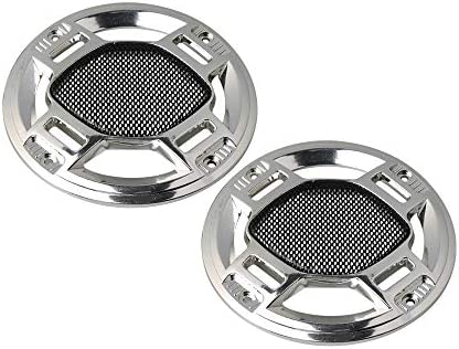 Yibuy 2 Pieces 4 Inches Speaker Cover Loudspeaker Decorative Circle Metal Mesh / Yibuy 2 Pieces 4 Inches Speaker Cover Loudspeaker Decorative Circle Metal Mesh