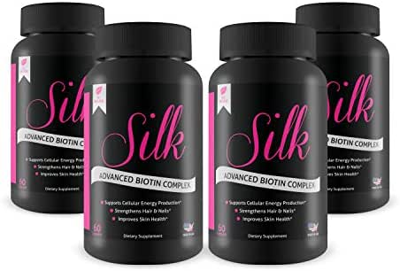 Silk Advanced Biotin Complex- Promotes Stronger, Longer, Hair-Healthier Skin- Ultimate Nail Strength 240ct