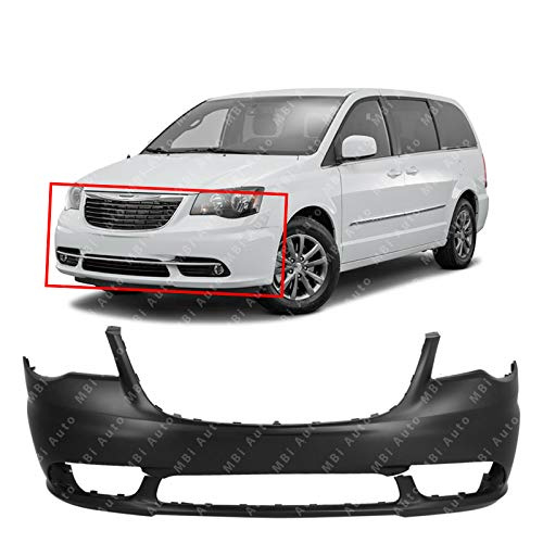 MBI AUTO - Primered, Front Bumper Cover Fascia for 2011-2016 Chrysler Town & Country 11-16, CH1000990 (Car Bumper Town Cover Front)