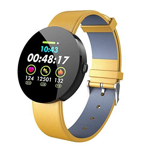 Kariwell 1.3 Inch IPS Colour Display Smart Watch - Waterproof Bluetooth Heart Rate Monitor Fitness Tracker Sport Watch Kari-69 (Yellow)