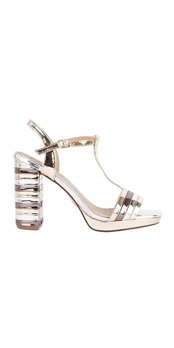 d395cbf169e MARIA MARE Sandalias Metalizadas Tacón: Amazon.es: Zapatos y complementos