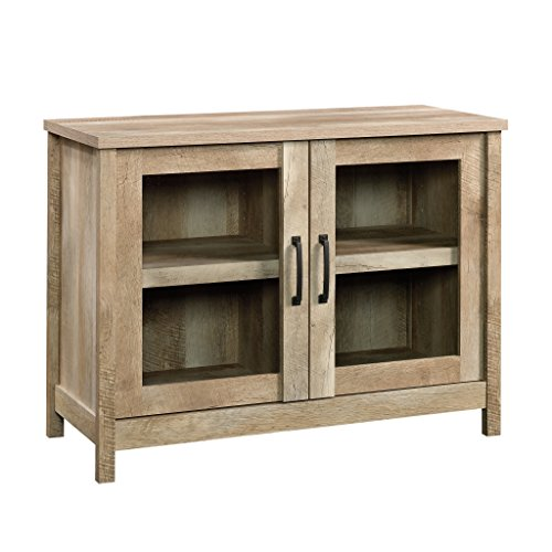 Glass Oak Shelf - Sauder 420334 Cannery Bridge Display Cabinet, For TV's up to 42
