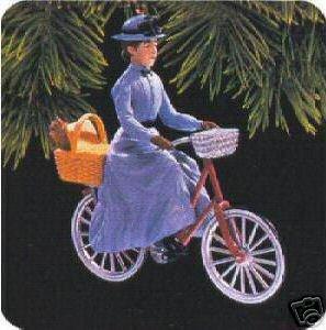 Rare Miss Gulch on her bike Wizard of OZ 1997 Hallmark Ornament