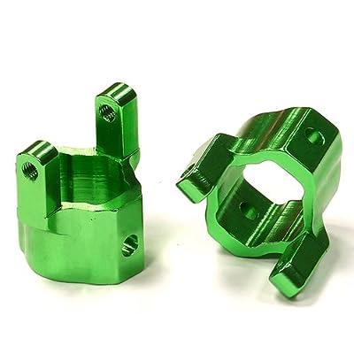 Integy RC Model Hop-ups C24568GREEN Billet Machined Alloy Caster Blocks for Axial SCX-10 Honcho & Dingo