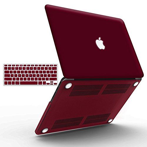 iBenzer Basic Soft-Touch Series Plastic Hard Case & - Candy Apple Red Macbook Air Case