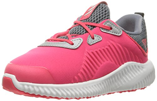 adidas Kids' Alphabounce Sneaker, Shock Red/White/Tech Grey Fabric, 6 M US Infant by adidas (Image #1)