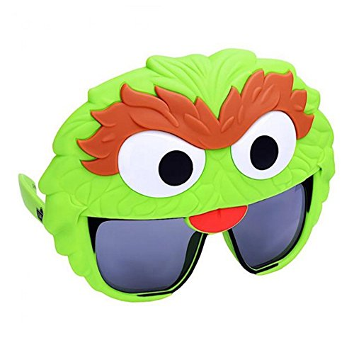 Costume Sunglasses Sesame Oscar the Grouch Sun-Staches Party Favors -