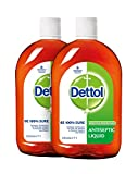 Dettol Antiseptic Disinfectant Liquid 33.8 Oz (1000 ml) Germ Protection Disinfectant for First Aid, Home & Personal Hygiene