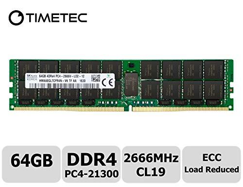 (Timetec Hynix Original HMAA8GL7CPR4N-VKTF 64GB DDR4 2666MHz PC4-21300 ECC Load Reduced 1.2V CL19 4Rx4 Quad Rank 288 Pin LRDIMM Server Memory RAM Module Upgrade (64GB))