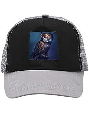 Unisex Blue Eye Owl Adjustable Classic Hiphop Hat Baseball Cap Snapback Dad Hat