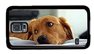 Hipster case mate Samsung Galaxy S5 Cases Sad Puppy PC Black for Samsung S5