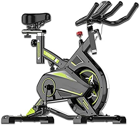 LSYOA Bicicleta Estática, Magnético Bicicleta Spinning, Ajustable Asiento Magnético Resistencia Reposabrazos Indoor Bicicleta, con Pantalla LCD, Titular del teléfono Bicicleta Fitness,Green_Free Size: Amazon.es: Hogar