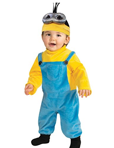 Rubie's Costume CO Baby Boys' Minion Kevin Romper Costume, Yellow, 3-4 (Minion Halloween Costume Baby)