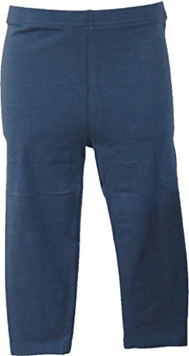 Clean Dark Denim - Butterfly Unisex Boys Girls Flat Cotton Leggings. Available in 9 Colors (4T, Dark Denim)
