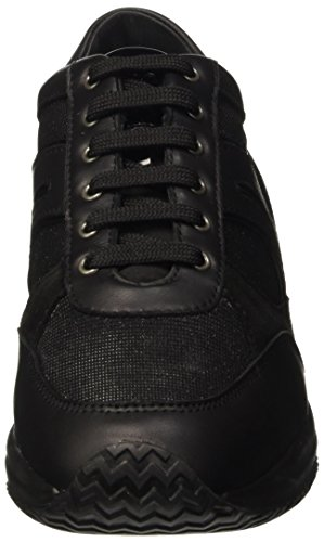 Femme Basses Schwarz Blackc9999 D A Baskets Happy Geox 1SvOXWq