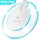 ebulous Wireless Charger, Qi-Certified Portable Cordless Charging Stand Compatible with Smartphone XS/XR/Max/X/8/8 Plus, Samsung Galaxy S10+/S9/Note9 and More, All Qi-Enabled Devices (White)