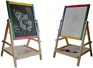 2 in 1 Kindertafel  Schreibtafel Standtafel Staffelei doppelseitig Kreidetafel