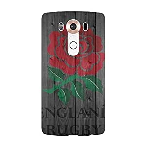 LG V10 Case Retro Wooden Design RWC England Rugby Logo Cell Phone Case Cover for LG V10 England Rugby Rose Stylish Durable