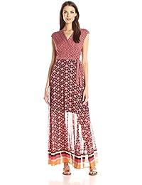 Women's V-Neck Long Jersey Maxi Dress