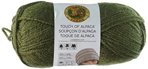 Lion Brand Yarn 674-132 Touch of Alpaca Yarn, Olive