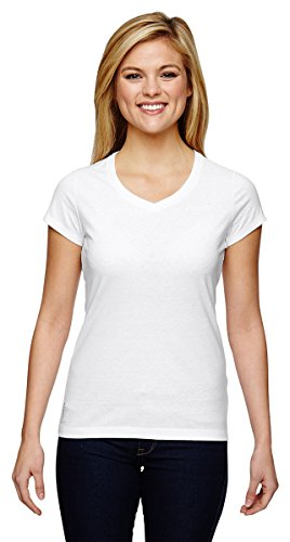 Champion Women's Short Sleeve Vapor Performance Cotton Tee, White, Large (Sleeve Regular Short Tee)