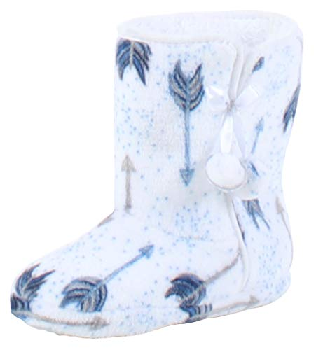 (PajamaMania Slipper Boots with Rubber Sole White Arrows (PM5004-2065-L/XL))