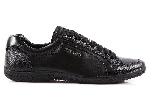 Prada scarpe sneakers donna in pelle nero  Amazon.it  Scarpe e borse 9cd2e890f00