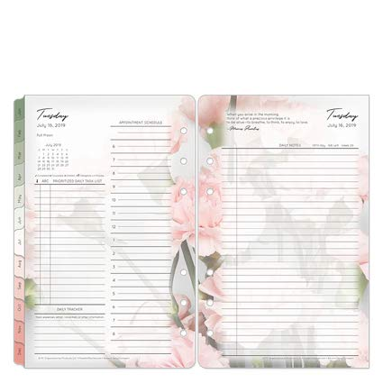 Compact Blooms Daily Ring-Bound Planner - Jul 2019 - Jun 2020