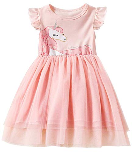 TTYAOVO Toddler Flower Girl Dress Sleeveless Cotton Tutu Dresses for Girls Size 5-6 Years ()