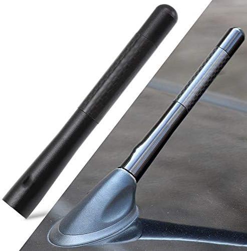 Qinqin666 Coche Fibra de Carbono Antena Corta Fit for ...