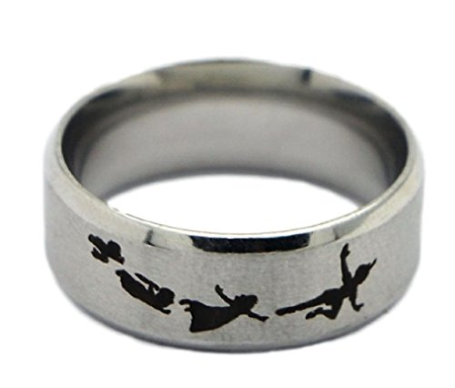 New Horizons Production Disney's Peter Pan Flying Steel Cosplay Metal Ring - Multiple Sizes (7)]()