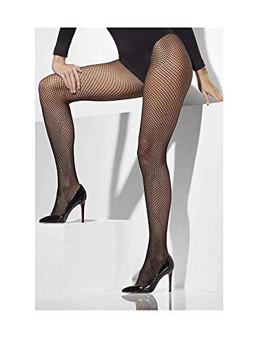 Fever Women's Fishnet Tights, Black, Plus Size,5020570427262 ()