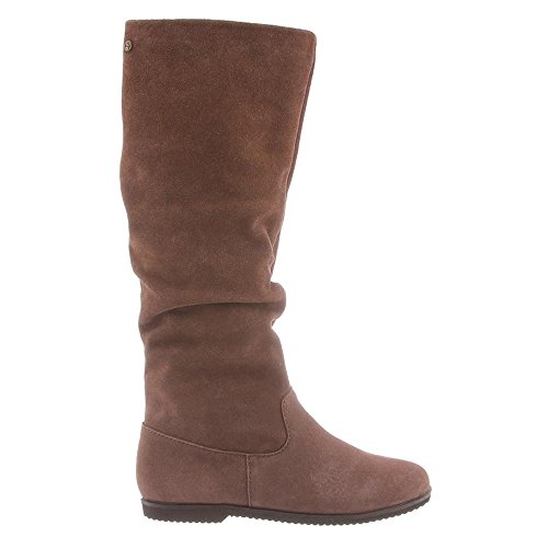 BEARPAW Womens Melanie Suede/Canvas Knee-High Canvas Boot Taupe nBNAuxFv1