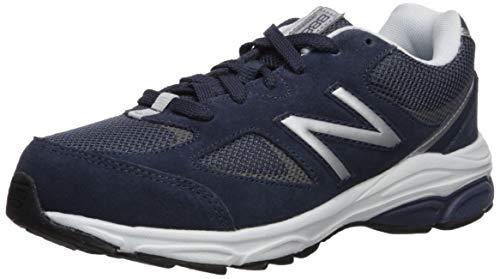 New Balance Boys' 888v2 Running Shoe, Navy/Grey, 5 M US Big Kid (New Balance Shoes Boys Size 5)