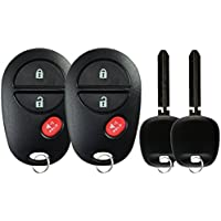 KeylessOption Keyless Entry Remote Control Fob Uncut Blank Car Key For GQ43VT20T (Pack of 2)