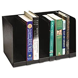 Buddy Products 5704 Six-Section Book Rack with Dividers