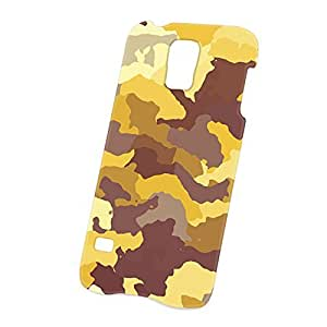 Case Fun Samsung Galaxy S5 (i9600) Case - Ultra Slim Version - Full Wrap Edge to Edge Print - Yellow Camouflage
