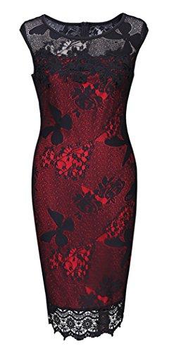 Slim Vestito Da Sera In Ricamato Modello Vogue abito 1 Pizzo Donna La 4RL5jA