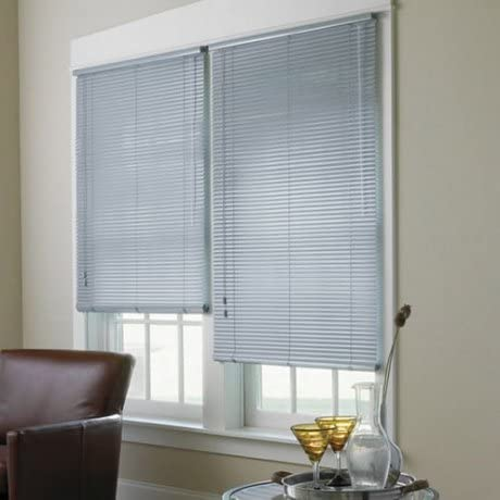 "Premium White 1"" Inch Light Filtering Vinyl Blind 54"" W x 72"" L Actual Size 53-1/2"" x 72"""