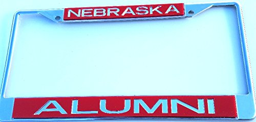 Huskers Chrome License Plate Frame (Nebraska Corn Huskers Chrome License Plate Frame Chrome)