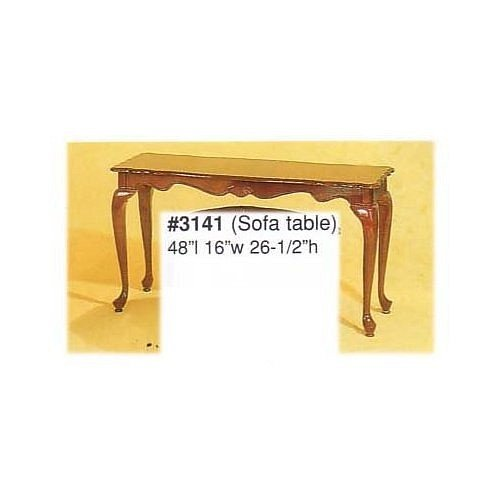 CHERRY WOOD VENNEER SOFA TABLE WITH QUEEN ANNE LEGS
