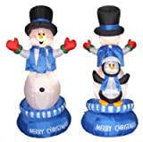 "Chrisha Creations 90499 64"" Rot Snowman/Penguin Christmas, Outdoor Figures, Inflatable"