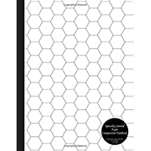 Specialty Journal Paper Composition Notebook Hexagon Paper (Large) Honeycomb Hex Grid Pages .5 inch sides: Bio / Organic Chemistry and Geometry Honeycomb Hex Exercise Book
